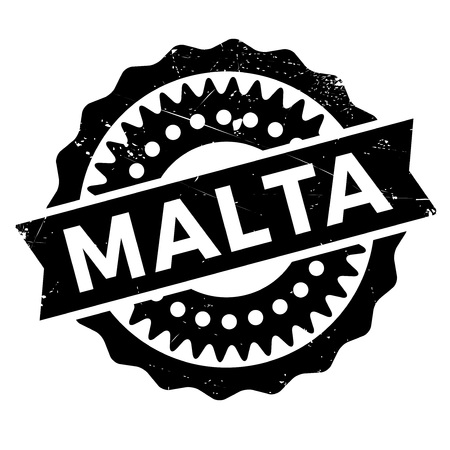 malta: Malta stamp rubber grunge Illustration
