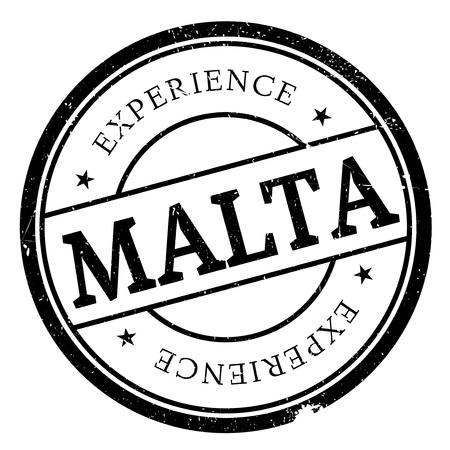 malta cities: Malta stamp rubber grunge Illustration