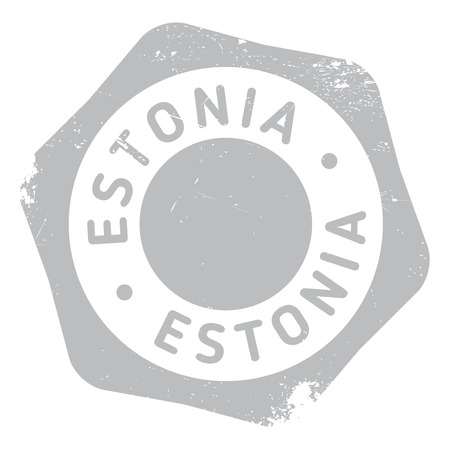 estonia: Estonia stamp rubber grunge Illustration