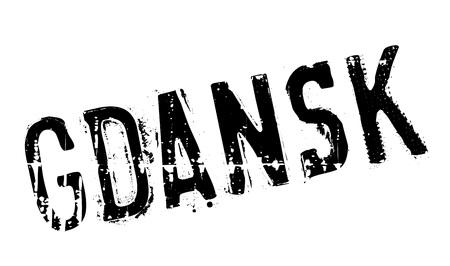 gdansk: Gdansk stamp rubber grunge