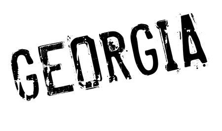 georgia: Georgia stamp rubber grunge