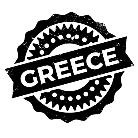made in greece stamp: Greece stamp. Grunge design with dust scratches. Effects can be easily removed for a clean, crisp look. Color is easily changed.