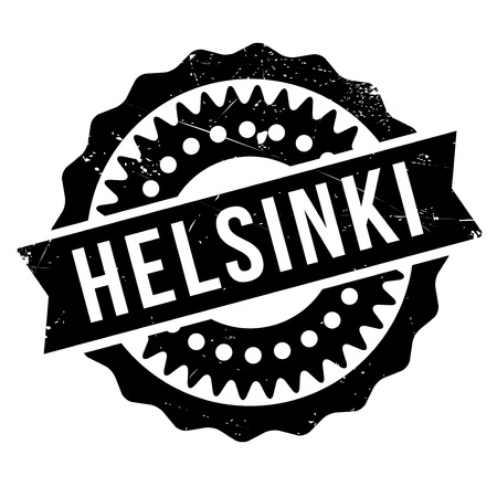 Helsinki stamp. Grunge design with dust scratches. Effects can be easily removed for a clean, crisp look. Color is easily changed. Illustration