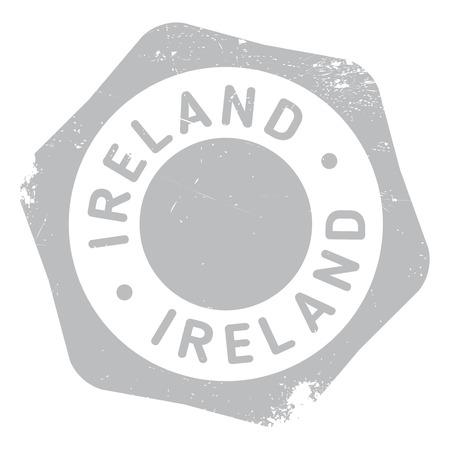 irish cities: Ireland stamp rubber grunge