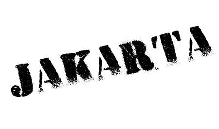 jakarta: Jakarta stamp rubber grunge Illustration