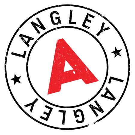 Langley stamp rubber grunge