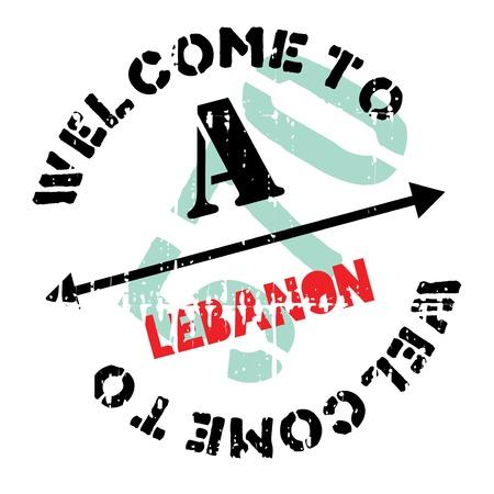 beirut: Lebanon stamp rubber grunge Illustration