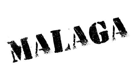 malaga: Malaga stamp rubber grunge