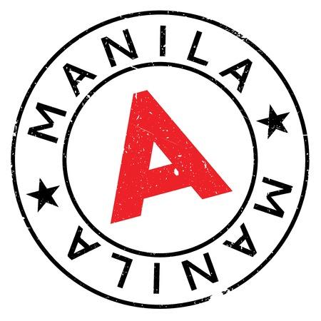 manila: Manila stamp rubber grunge