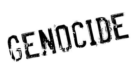 Genocide stamp rubber grunge