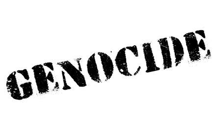 genocide: Genocide stamp rubber grunge
