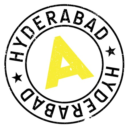 Hyderabad stamp rubber grunge