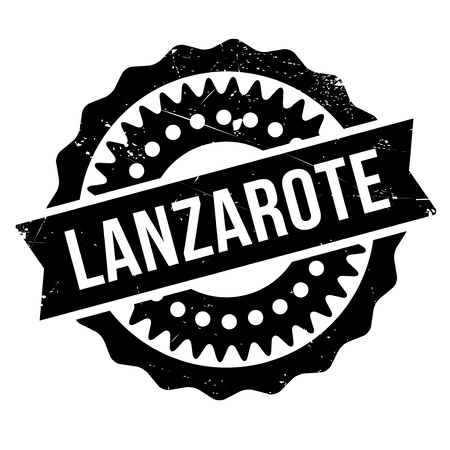 canary islands: Lanzarote stamp. Grunge design with dust scratches. Effects can be easily removed for a clean, crisp look. Color is easily changed. rubber grunge