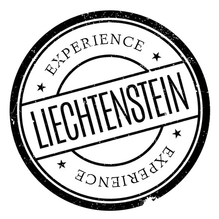 european alps: Liechtenstein stamp. Grunge design with dust scratches. Effects can be easily removed for a clean, crisp look. Color is easily changed. rubber grunge