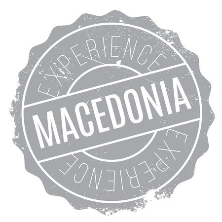 Mazedonien-Stempel. Grunge-Design mit Staub Kratzer. Effekte können für ein sauberes, klares Aussehen leicht entfernt werden. Die Farbe kann leicht geändert werden. Gummi Grunge