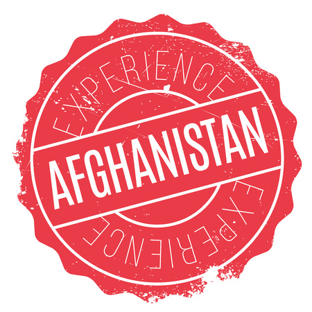 Afghanistan stamp. Grunge design with dust scratches. Effects can be easily removed for a clean, crisp look. Color is easily changed. Illustration