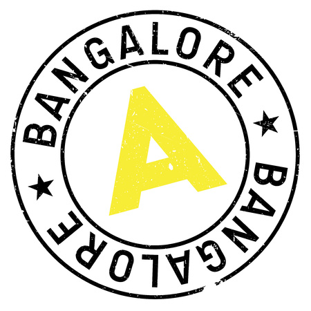 plateau: Bangalore stamp. Grunge design with dust scratches. Effects can be easily removed for a clean, crisp look. Color is easily changed. Illustration
