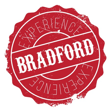 yorkshire: Bradford stamp. Grunge design with dust scratches. Effects can be easily removed for a clean, crisp look. Color is easily changed.