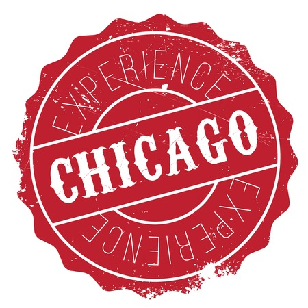 midwest: Chicago stamp. Grunge design with dust scratches. Effects can be easily removed for a clean, crisp look. Color is easily changed. Illustration