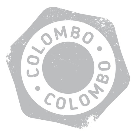 colombo: Colombo stamp. Grunge design with dust scratches. Effects can be easily removed for a clean, crisp look. Color is easily changed.
