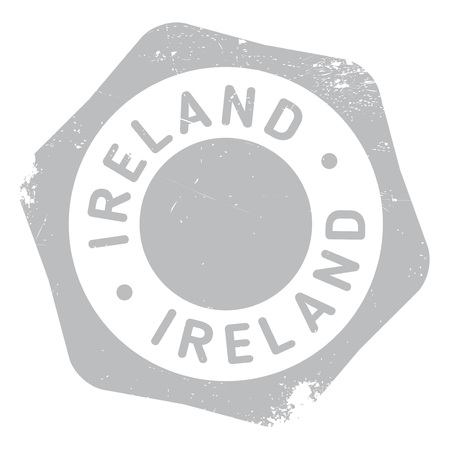 eire: Ireland stamp. Grunge design with dust scratches. Effects can be easily removed for a clean, crisp look. Color is easily changed.