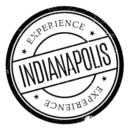 Indianapolis stamp. Grunge design with dust scratches. Effects can be easily removed for a clean, crisp look. Color is easily changed.