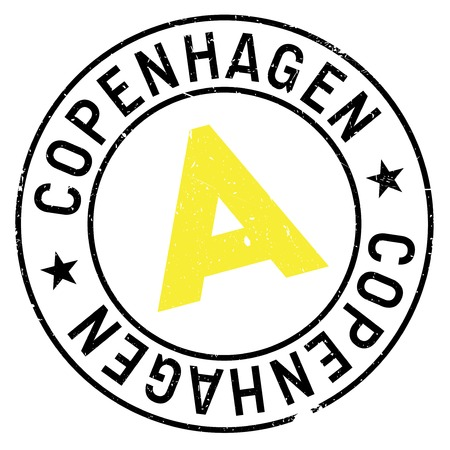 scandinavia: Copenhagen stamp. Grunge design with dust scratches. Effects can be easily removed for a clean, crisp look. Color is easily changed.