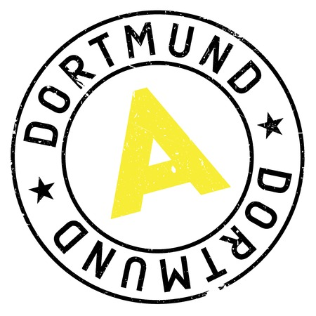 german culture: Dortmund stamp. Grunge design with dust scratches. Effects can be easily removed for a clean, crisp look. Color is easily changed.