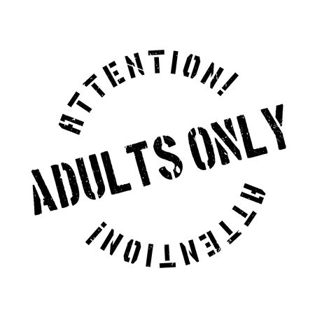 purely: Adults Only rubber stamp. Grunge design with dust scratches. Effects can be easily removed for a clean, crisp look. Color is easily changed. Illustration