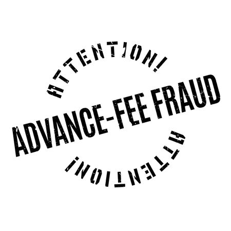 fraudster: Advance-Fee Fraud rubber stamp. Grunge design with dust scratches. Effects can be easily removed for a clean, crisp look. Color is easily changed. Illustration