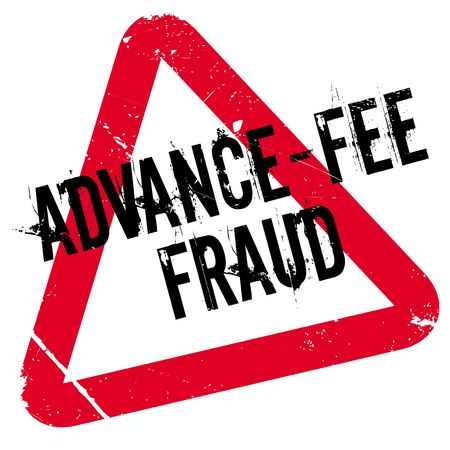 faked: Advance-Fee Fraud rubber stamp. Grunge design with dust scratches. Effects can be easily removed for a clean, crisp look. Color is easily changed. Illustration