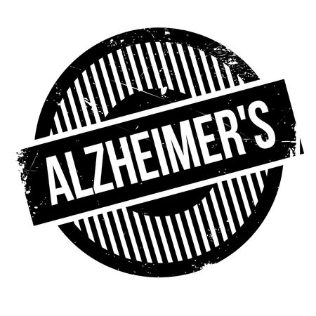 Alzheimer rubber stamp. Grunge design with dust scratches. Effects can be easily removed for a clean, crisp look. Color is easily changed.