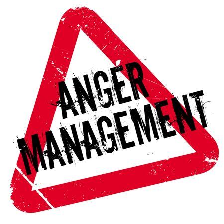 Anger Management timbro di gomma. disegno del grunge con graffi di polvere. Gli effetti possono essere facilmente rimossi per un look pulito e fresco. Il colore è molto semplice.