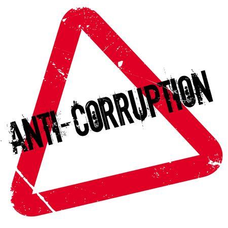 Anti-Korruptions-Stempel. Grunge-Design mit Staub Kratzer. Die Effekte können leicht für einen sauberen, frischen Look entfernt werden. Die Farbe ist leicht verändert.