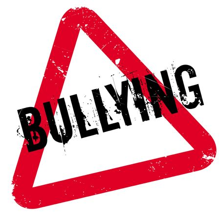 intimidation: Bullying rubber stamp. Grunge design with dust scratches. Effects can be easily removed for a clean, crisp look. Color is easily changed.