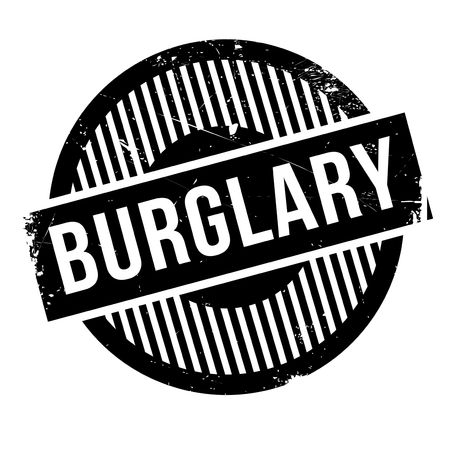 breakin: Burglary rubber stamp. Grunge design with dust scratches. Effects can be easily removed for a clean, crisp look. Color is easily changed.