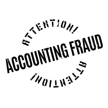 Accounting Fraud rubber stamp. Grunge design with dust scratches. Effects can be easily removed for a clean, crisp look. Color is easily changed. Vettoriali