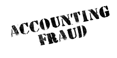 counterfeit: Accounting Fraud rubber stamp. Grunge design with dust scratches. Effects can be easily removed for a clean, crisp look. Color is easily changed. Illustration