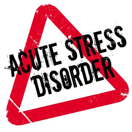 manic: Acute Stress Disorder rubber stamp. Grunge design with dust scratches. Effects can be easily removed for a clean, crisp look. Color is easily changed. Illustration