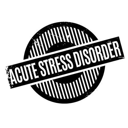 Acute Stress Disorder rubber stamp. Grunge design with dust scratches. Effects can be easily removed for a clean, crisp look. Color is easily changed. Illustration