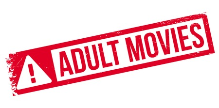 Adult Movies rubber stamp. Grunge design with dust scratches. Effects can be easily removed for a clean, crisp look. Color is easily changed. Illustration