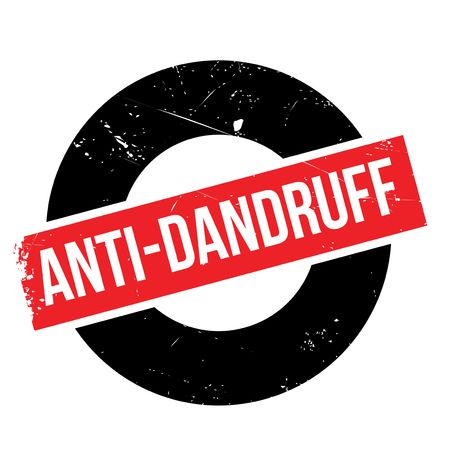 dandruff: Anti-Dandruff rubber stamp. Grunge design with dust scratches. Effects can be easily removed for a clean, crisp look. Color is easily changed.