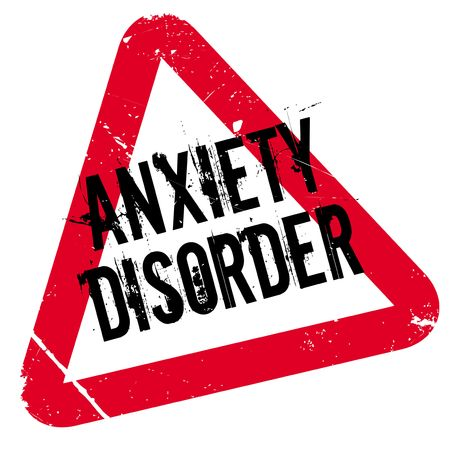 manic: Anxiety Disorder rubber stamp. Grunge design with dust scratches. Effects can be easily removed for a clean, crisp look. Color is easily changed.