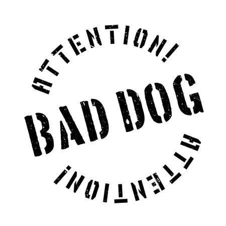 dogie: Bad Dog rubber stamp. Grunge design with dust scratches. Effects can be easily removed for a clean, crisp look. Color is easily changed.
