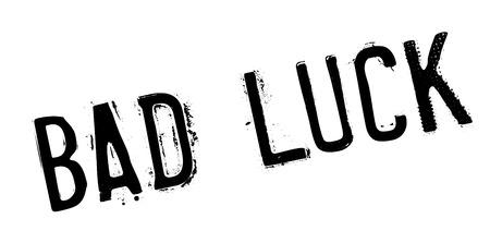 Bad Luck Stempel. Grunge-Design mit Staub Kratzer. Die Effekte können leicht für einen sauberen, frischen Look entfernt werden. Die Farbe ist leicht verändert.