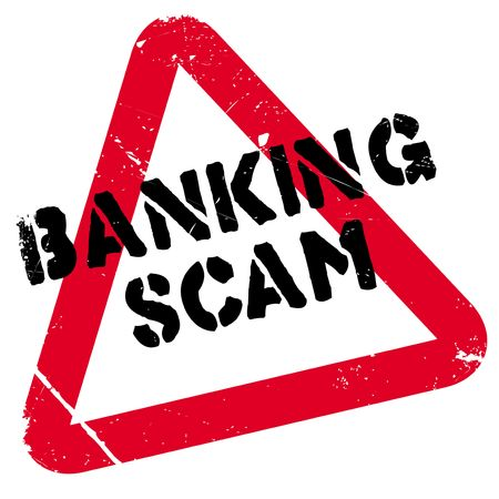 Banking Scam rubber stamp. Grunge design with dust scratches. Effects can be easily removed for a clean, crisp look. Color is easily changed.