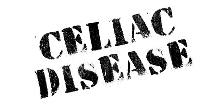 coeliac: Celiac Disease rubber stamp. Grunge design with dust scratches. Effects can be easily removed for a clean, crisp look. Color is easily changed. Illustration
