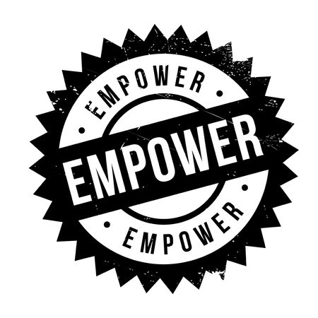 Empower stamp. Grunge design with dust scratches. Effects can be easily removed for a clean, crisp look. Color is easily changed. Illustration