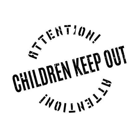 keep out: Children Keep Out rubber stamp. Grunge design with dust scratches. Effects can be easily removed for a clean, crisp look. Color is easily changed.