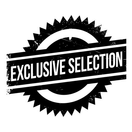 Exclusive selection stamp. Grunge design with dust scratches. Effects can be easily removed for a clean, crisp look. Color is easily changed. Illustration